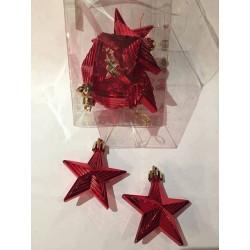 Luksus Jule Stjerner til ophæng til Juletræet i flot salgsdisplay med 8.stk i hver pakke