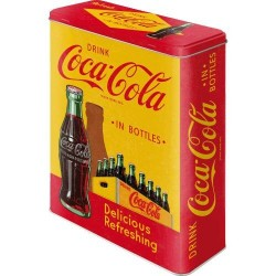 Orginale licens Nostalgic Art Retro Coca-Cola – In Bottles Yellow Dåser