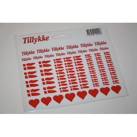 A5 Tillykke, 2 Ark stickers