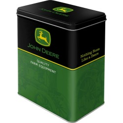 John Deere Logo 316 Black / Green Metal box