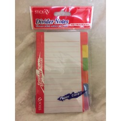 Divider Notes Paper Card Block