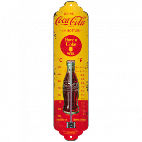 Coca Cola - In Bottels YellowThermometer fra Nostalgic Art