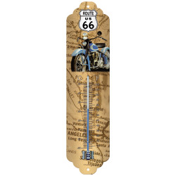 Route 66 Map Thermometer fra Nostalgic Art