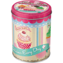 Metal dåse rund - fairy cakes delicious every day