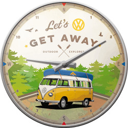Væg ur - VW lets get Away fra Nostalgic Art