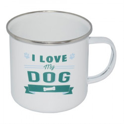 RETRO MUG KRUS I LOVE MY DOG