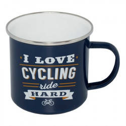 RETRO MUG KRUS I LOVE CYCLING - RIDE HARD