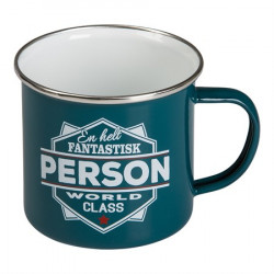 RETRO MUG KRUS EN HELT FANTASTISK PERSON - WORLD CLASS