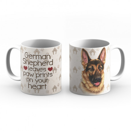 Krus - German Shepherd leaves paw prints in your heart