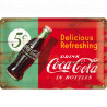 Skilt 20x30 cm - Coca-Cola – Delicious Refreshing Green (Retro)