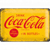 Skilt 20x30 cm - Coca-Cola – Logo Yellow (Retro)