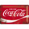 Skilt 20x30 cm - Coca-Cola – Logo Red Wave (Retro)