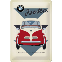 Skilt 20 x 30 - BMW – Isetta Economical Car ( Retro )