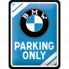Skilt 15 x 20 - BMW - parking only ( Retro )