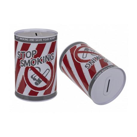 Metal Sparebøsse Stop Smoking 15X10.cm