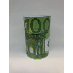 Metal Sparebøsse med 100 & 200 EURO