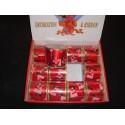 Smukke  Jule deco bånd  har ståltråd i kanten, brede ca. 6 cm. - Jule Tilbud